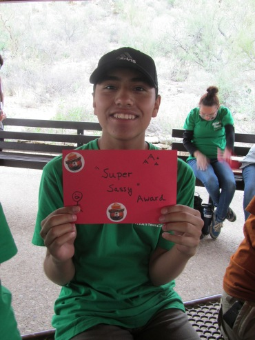 Jordan received the Super Sassy award! Photo: ASDM
