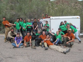 Resting after removing 78,040 square feet of buffelgrass. Photo: ASDM